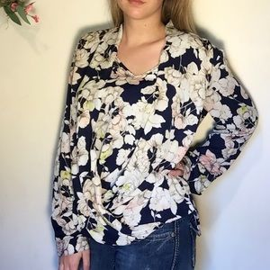 Nine West- Melina floral blouse